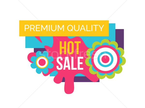 Hot Sale Premium Quality Label Abstract Flowers Stock photo © robuart