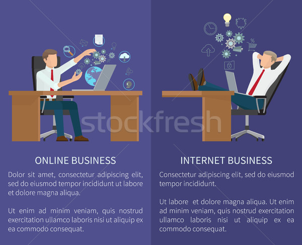Online Business Collection Vector Illustration Stock photo © robuart