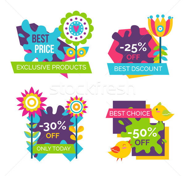 Exclusive Products Best Price Spring Labels Flower Stock photo © robuart