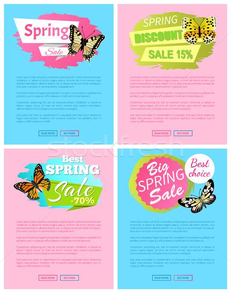 Voorjaar korting verkoop 15 af posters Stockfoto © robuart