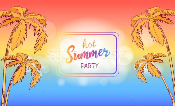 Quente verão festa cartaz praça quadro Foto stock © robuart