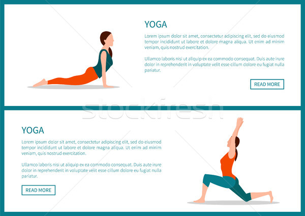 Yoga healthy Lifestyle, Colorful Vector Banner Stock photo © robuart