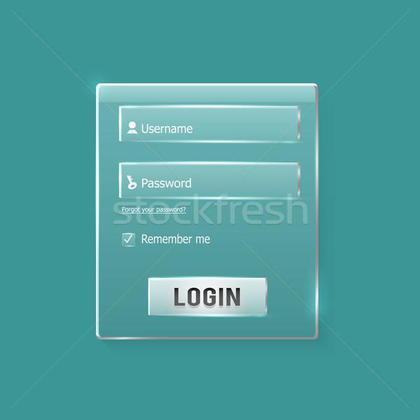 S'identifier web forme modernes carte Photo stock © robuart