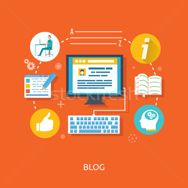 Blogging and writing for website Stock photo © robuart