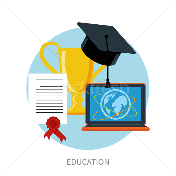 Knowledge collected from around the world concept Stock photo © robuart