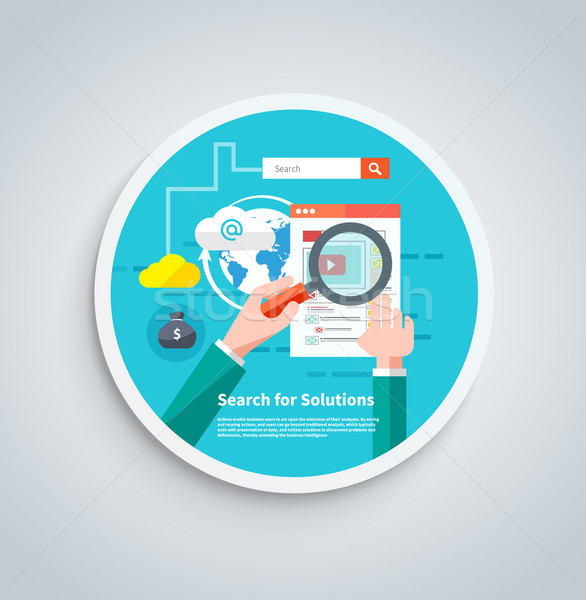 Search for solutions infographics banner Stock photo © robuart