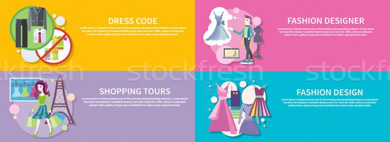 Fashion Designer, Shopping Tour, Dress Code Stock photo © robuart