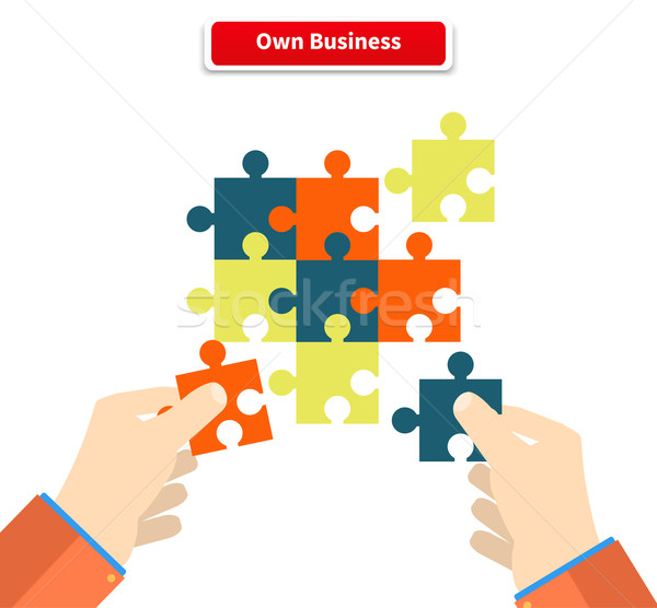 Creating or Building Own Business Concept Stock photo © robuart