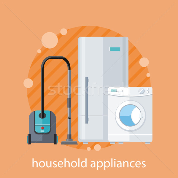 Household Appliances Flat Design Stock photo © robuart
