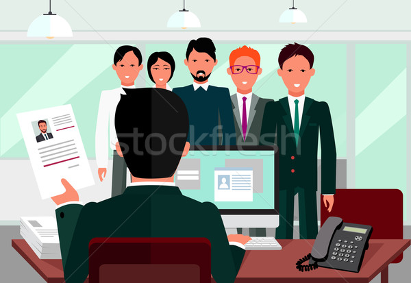 Hiring Recruiting Interview Stock photo © robuart