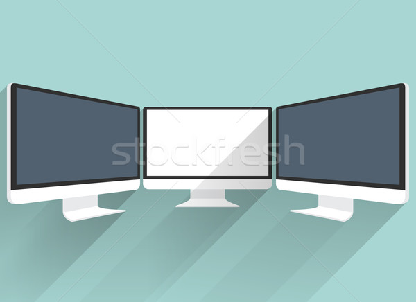 Сток-фото: Компьютерный · монитор · изолированный · цен · движения · фондовой · бирже · прибыль