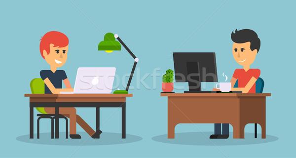 Persone lavoro ufficio design uomo d'affari computer Foto d'archivio © robuart