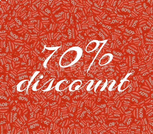 Sprzedaży zniżka procent tekst Zdjęcia stock © robuart
