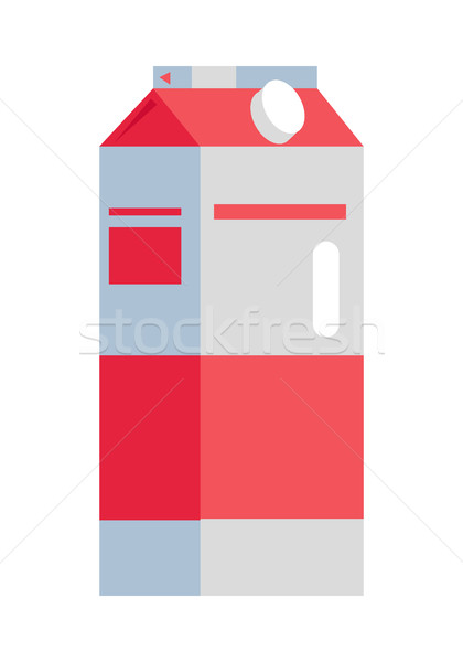 Kâğıt paketleme sıvı gıda örnek şişe Stok fotoğraf © robuart