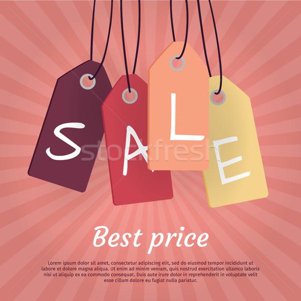 Legjobb ár szett vásár címkék szó ősz Stock fotó © robuart