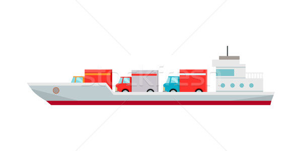 Ship Worldwide Warehouse Delivering. Logistics Stock photo © robuart