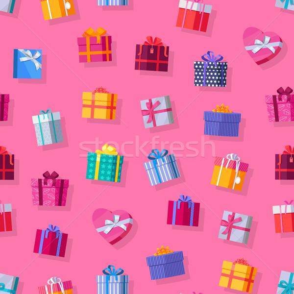 Kleurrijk mooie aanwezig vak Stockfoto © robuart