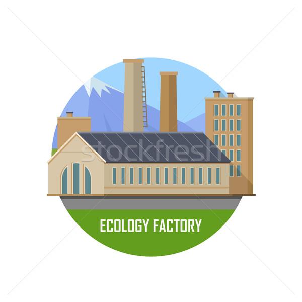 Ecology Factory Icon Stock photo © robuart