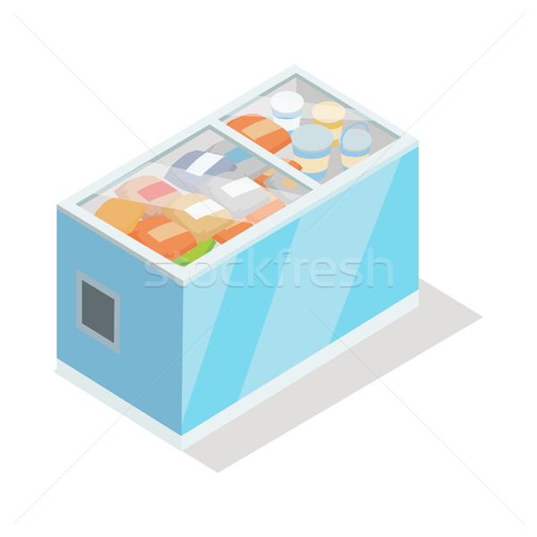Showcase Refrigerator for Cooling Food. Fridge Stock photo © robuart
