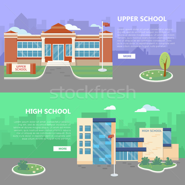 Upper and High School Vector Web Banners Stock photo © robuart
