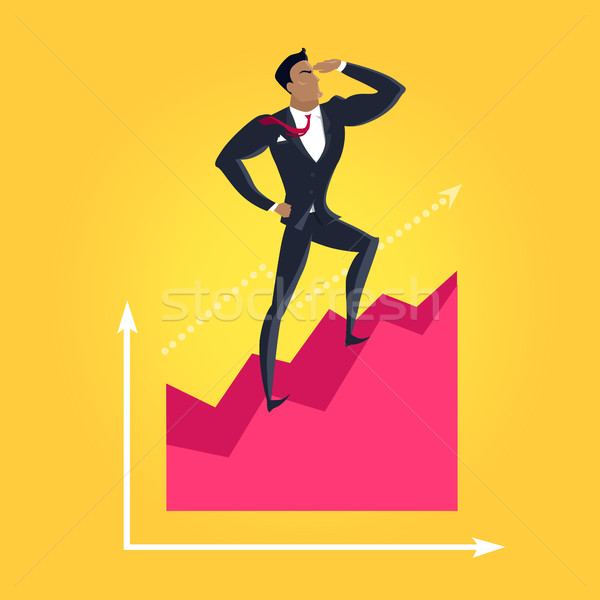 Business Success Vector Concept in Flat Design, Stock photo © robuart