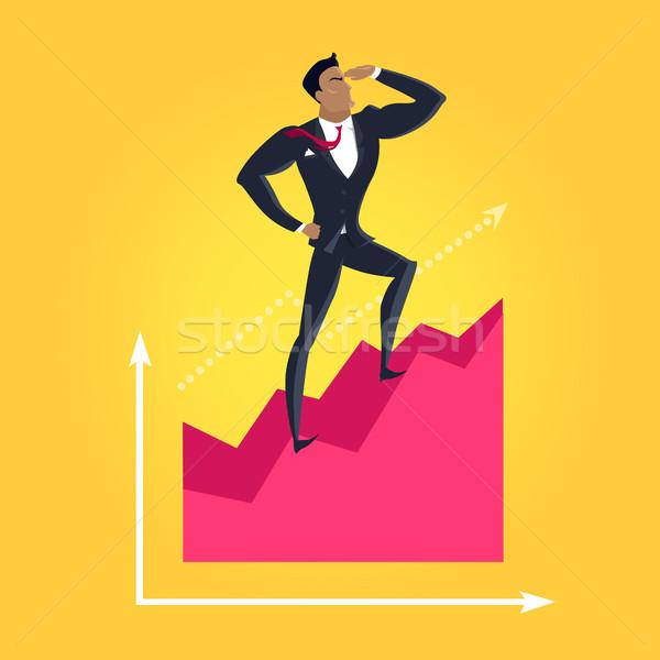 бизнеса успех вектора дизайна карьеру экономичный Сток-фото © robuart