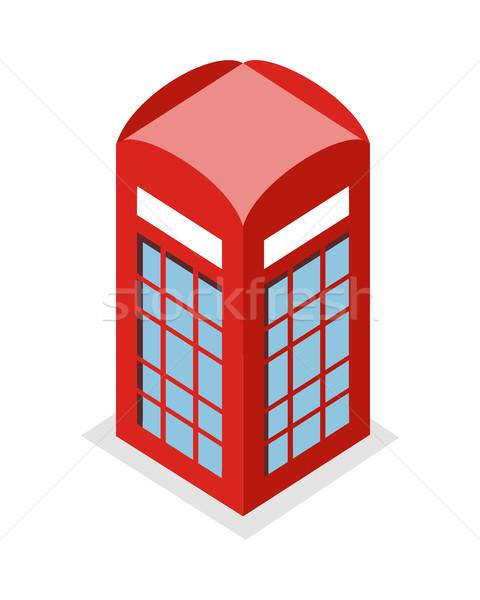 Hívás doboz illusztráció izometrikus vetítés kép Stock fotó © robuart