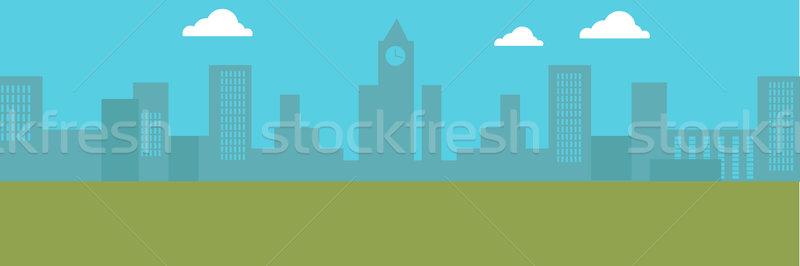 городского Cityscape зданий Blue Sky белый Сток-фото © robuart
