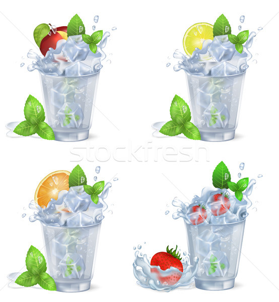 Koud fruit dranken ijs geïsoleerd illustraties Stockfoto © robuart