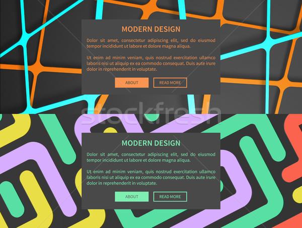 Modern dizayn web ayarlamak karanlık Stok fotoğraf © robuart