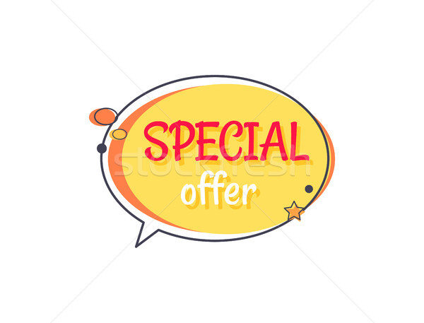 Special Offer Sale Advertisement in Speech Bubble Stock photo © robuart