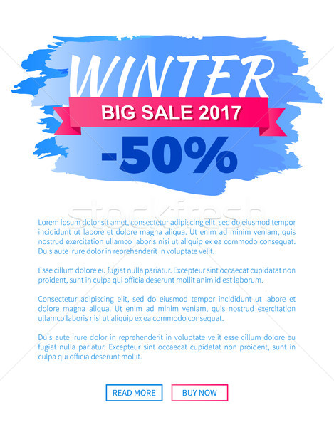 Winter Big Sale 2017 Vector Landing Page Poster Stock photo © robuart