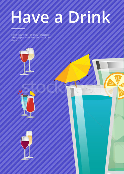 Foto stock: Beber · mojito · de · coquetel · verão · festa