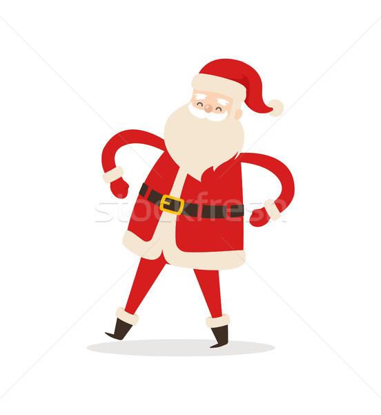 Funny Dancing Santa Claus Vector Illustration Stock photo © robuart