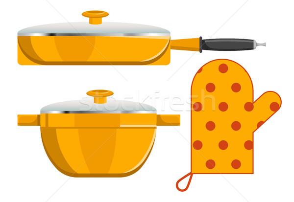 Three Kitchen Instruments Vector Illustration Stock photo © robuart