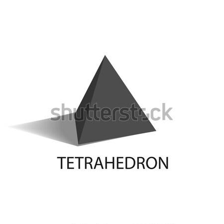 Geometryczny rysunku ostry czarny rozmiar Zdjęcia stock © robuart