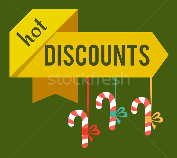 Hot Discounts Christmas Time Vector Illustration Stock photo © robuart