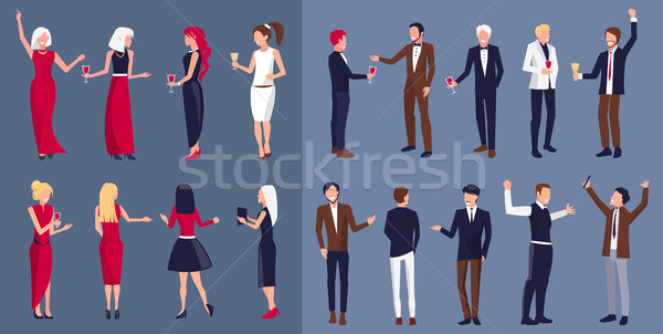 Women and Men Icons Separated Vector Illustration Stock photo © robuart