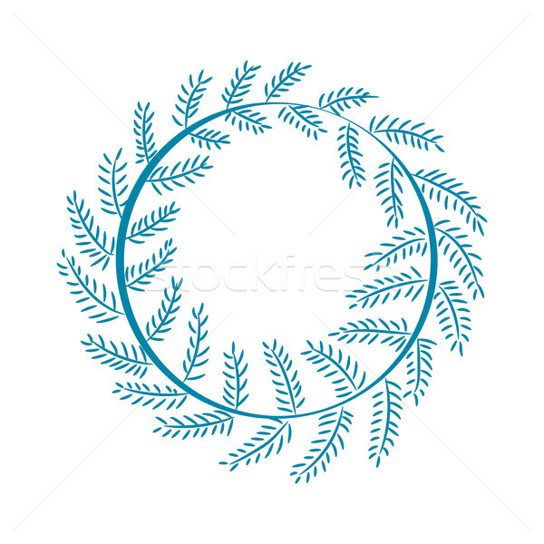 Christmas Pattern Wreath on Vector Illustration Stock photo © robuart