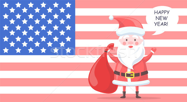 Traditional Santa Clause Wishes Happy New Year Stock photo © robuart
