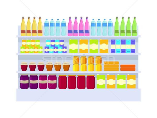 Supermarket Products Variety Vector Illustration Stock photo © robuart
