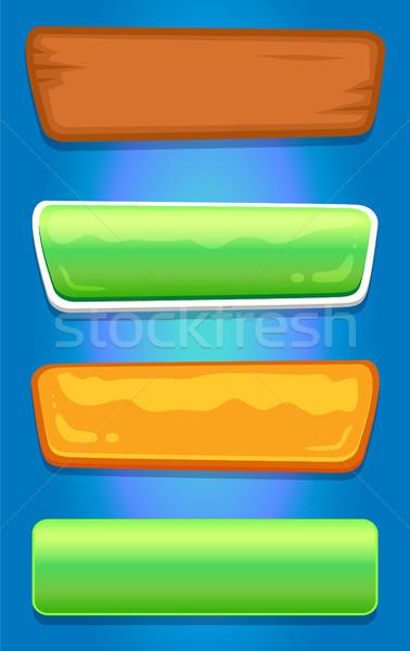 Navigation bouton boutons ensemble Photo stock © robuart