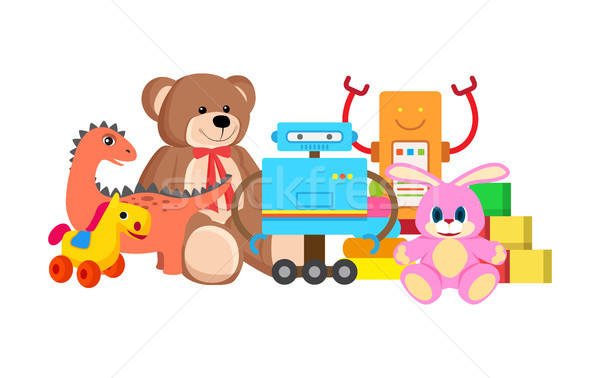 Robots and Horse Collection Vector Illustration Stock photo © robuart