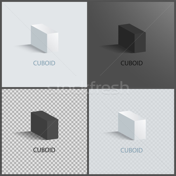 Four Cuboids Layouts, Color Vector Illustrations Stock photo © robuart