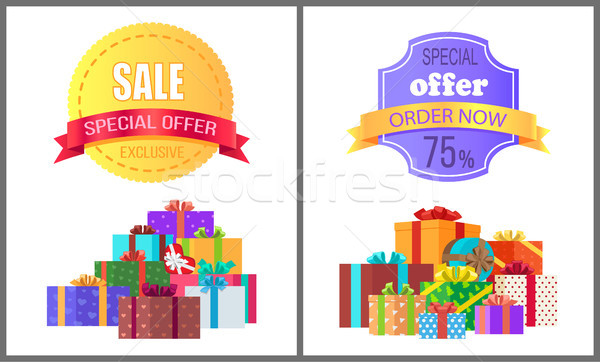 Special Offer Exclusive Sale Order Now Discount Stock photo © robuart