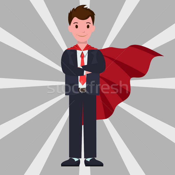 Character Wearing Formal Suit Vector Illustration Stock photo © robuart