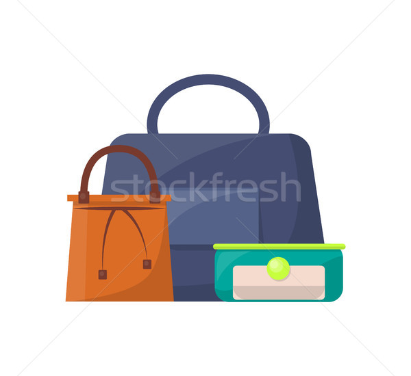 Summer Mode Collection of Bags Vector Illustration Stock photo © robuart