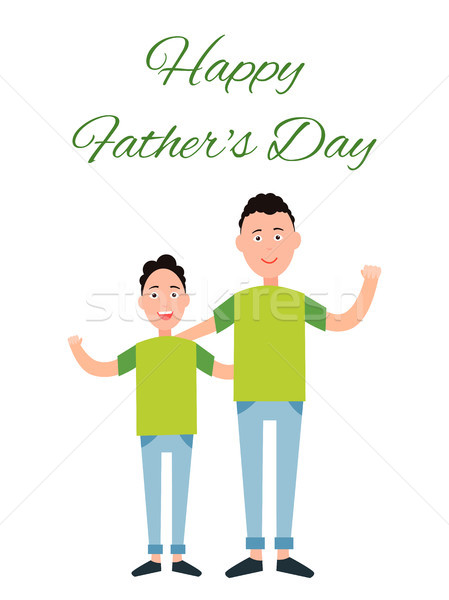 Happy Father s Day Color Card Vector Illustration Stock photo © robuart