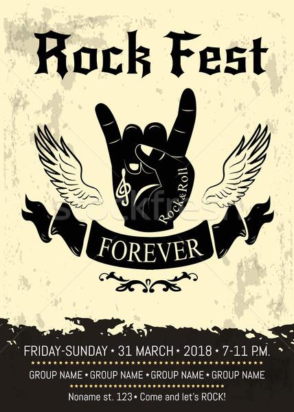 Rock reclame poster banner kamer informatie Stockfoto © robuart