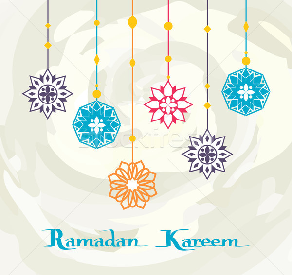 Ramadan Kareem White Background, Premium Design Stock photo © robuart